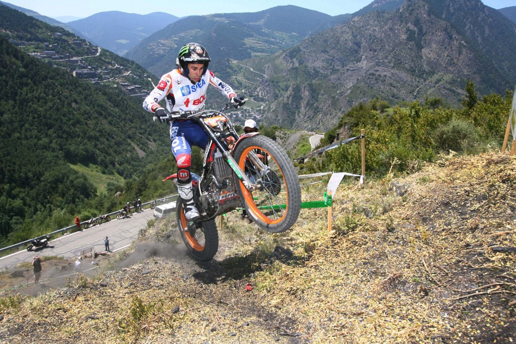 Toni Bou i fjellsidene i Andorra