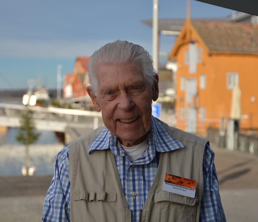 Ørnulf Ranger er eldste deltaker på Motorsportkonferansen.
