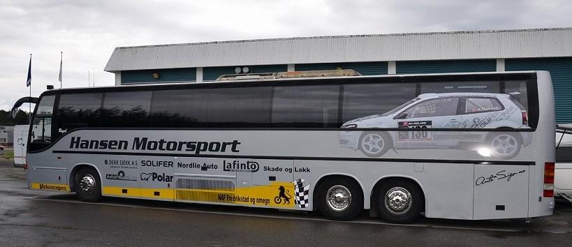 Ib Vegards nye buss - før den har fått ny dekor