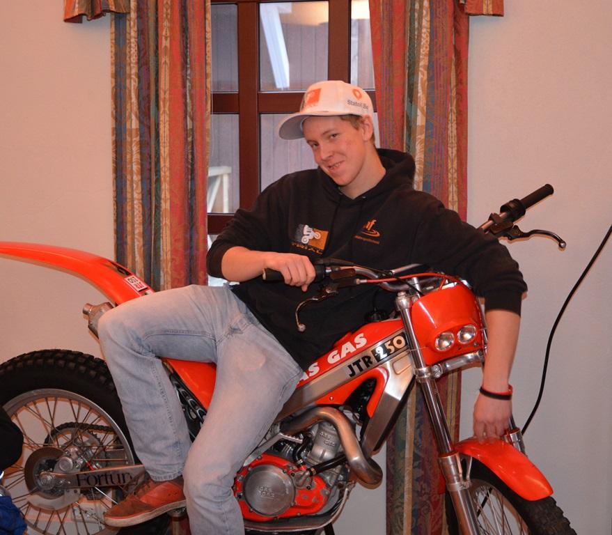 Marius Christiansen ble både norsk og nordisk juniormester på Beta sist sesong men er nå tilbake på Gas Gas (ikke akkurat denne sykkelen da)