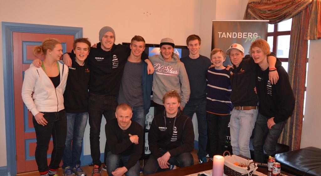 Dette er ikke et ferdig team, men en rekke glade Ossa- og Gas Gas førere som gleder seg til sesongen!