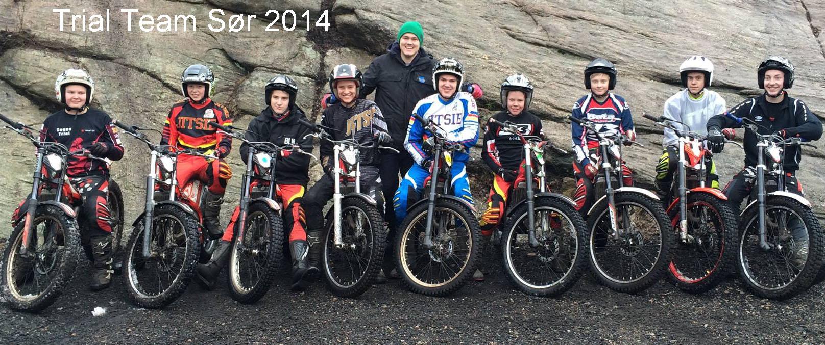 Trial Team Sør får representere alle de ivrige trialkjørerne som har holdt trening og inspirasjon oppe i vinter, og gleder seg til sesongstart!
