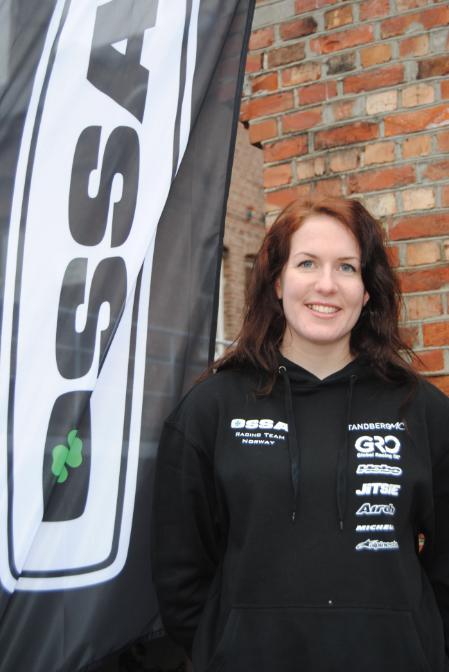 Emilie Westbye leder i motorsykkelseksjonen