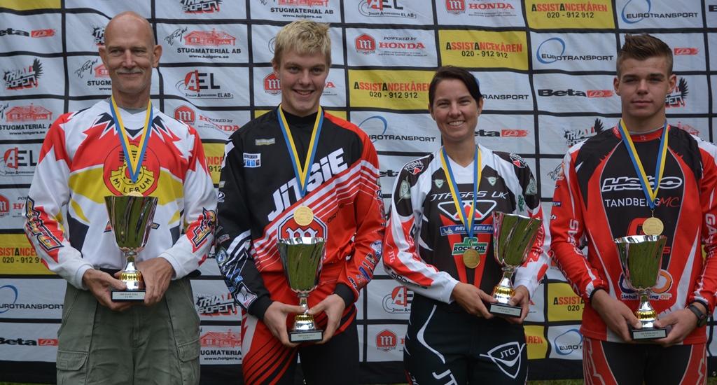 Lars Nordgren, Eddie Karlsson, Lene Dyrkorn og Julian Berntsen er nordiske mestere for 2014!