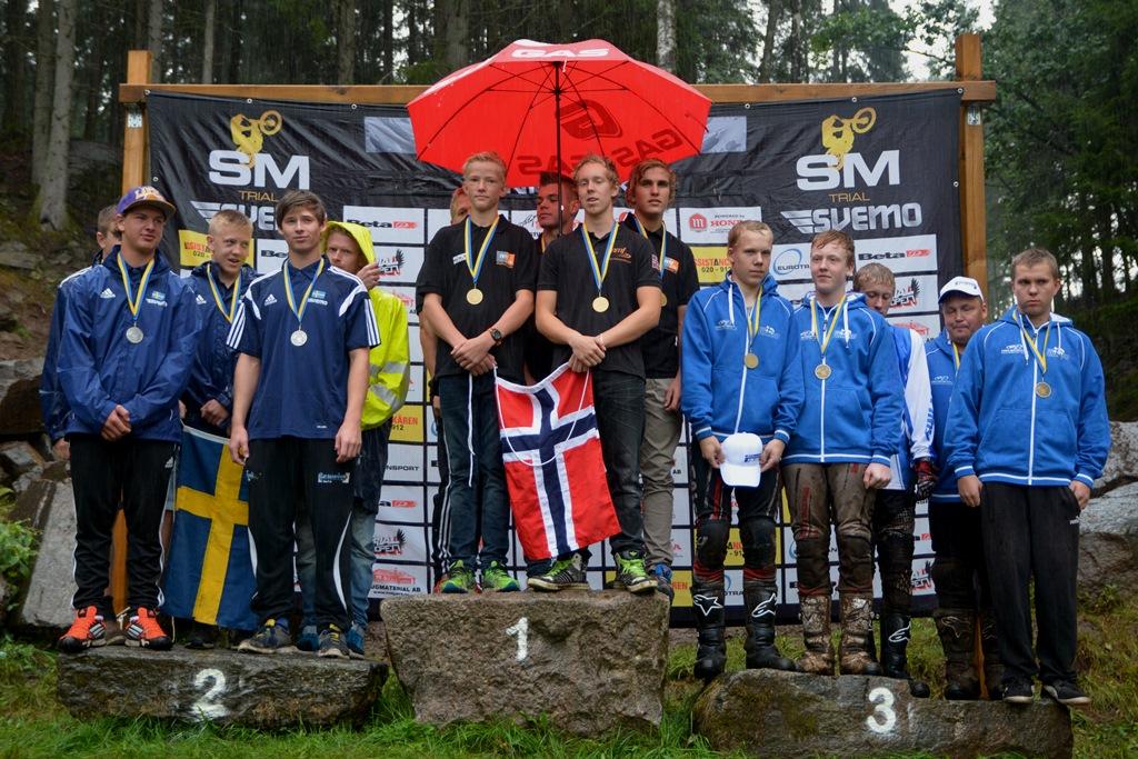 Det norske juniorlaget vant klart foran Sverige og Finland.