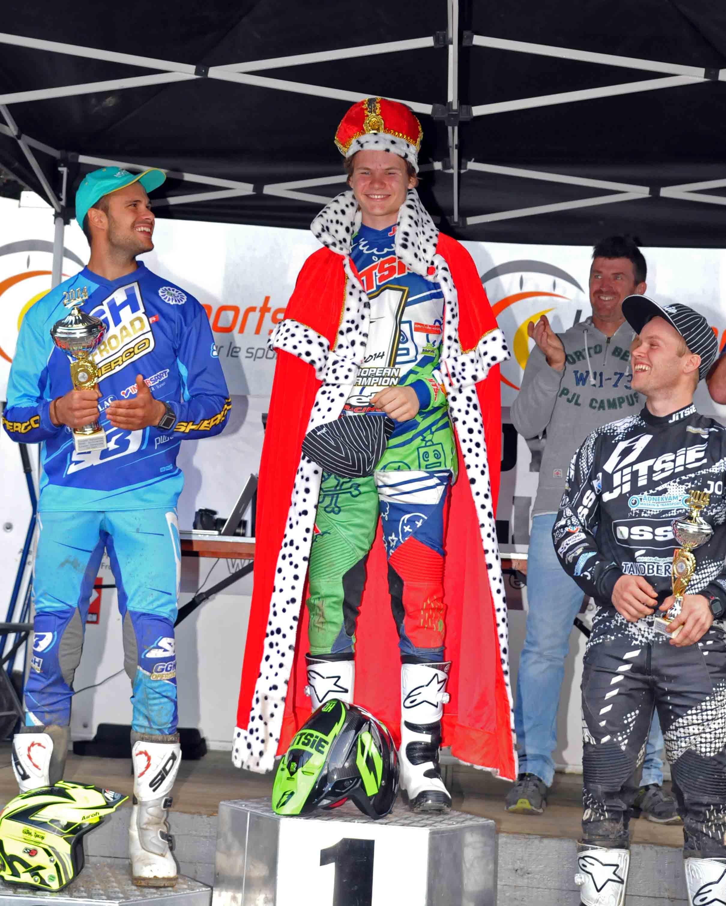 En glad Håkon på tredjeplass- og syns det var helt konge å vinne !