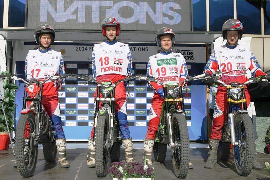 TdN-laget for herrer 2014  kapret en 5.plass, og har aldri vært nærmere fjerdeplassen.