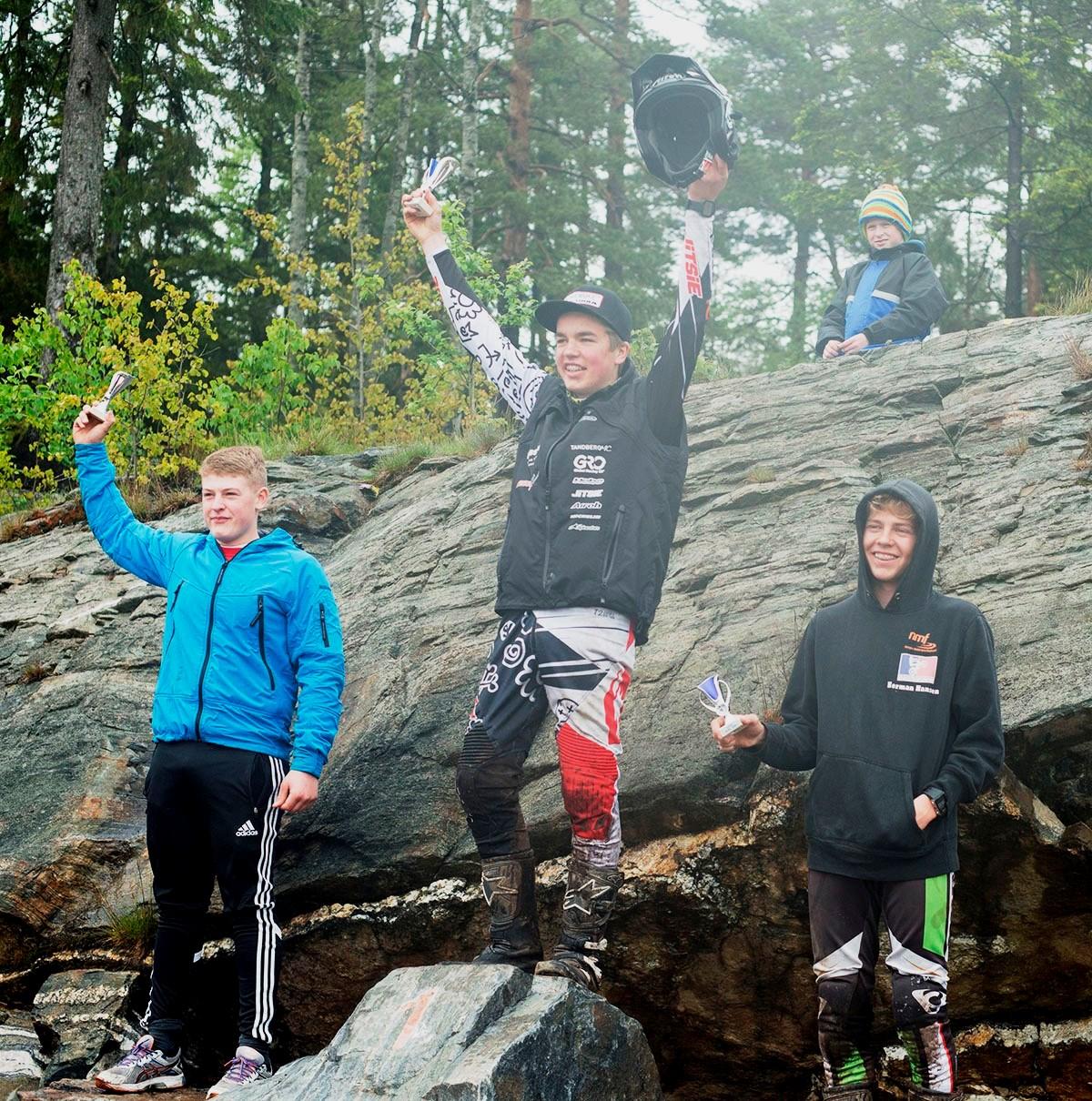 A-klassen! Sander Sørbye (Eiker), Andreas Sollie Andersen(Nesodden) og Herman Brockstedt Hansen (Skiptvet)