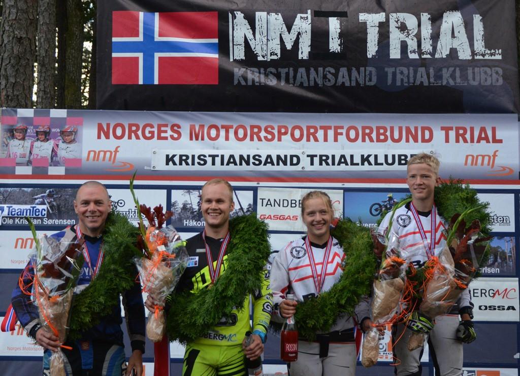 Årets Norgesmestere: Helge Ruden, Håkon Pedersen, Ingveig Håkonsen og Sondre Gilje Haga!