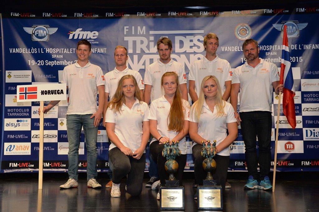 Norske deltakere under lagpresentasjonen