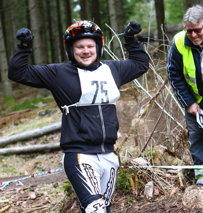 Bare godt humør i Sotenäs, her Anton Hansson! Foto Bengt Carlsson