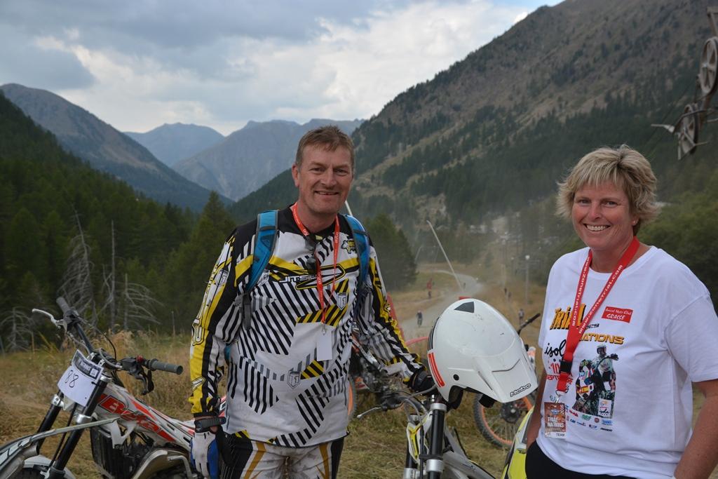 Tom og Irene Sandanger var kommet i bobil fra Norge for å være supportere!